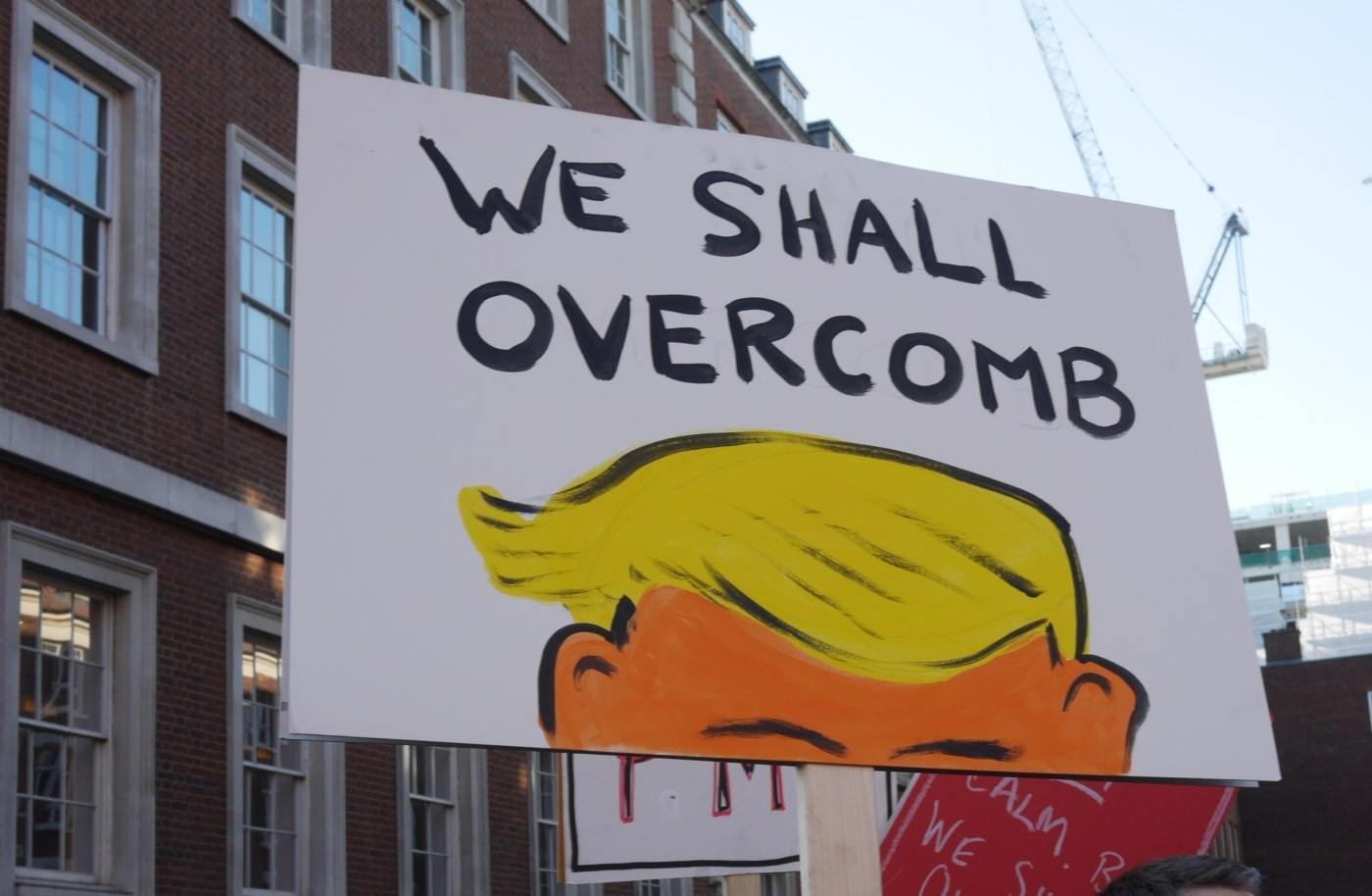 We Shall Overcomb Placard